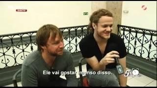 """Entrevista com """"Imagine Dragons"""" Parte 2 - Luís Filipe Borges - 5 Para a Meia Noite"""
