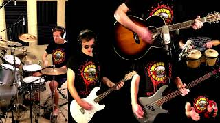 Used To Love Her - Guns N' Roses Guitar (Solo) Bass Drum Cover + Tabs