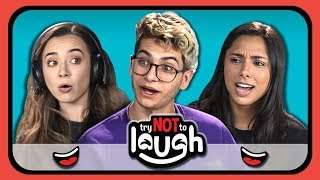 YouTubers React to Try to Watch This Without Laughing or Grinning #16