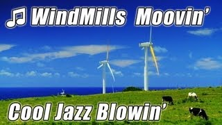 JAZZ MUSIC for studying Trumpet HAWAII WINDMILLS + Cows study Songs inspiring Happy Background