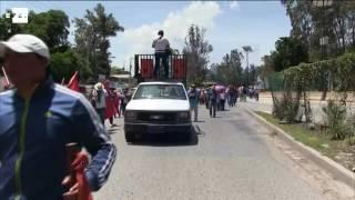Profesores vandalizan comercios en el sureños estado mexicanos de Guerrero