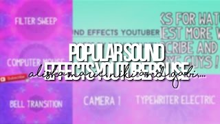 SOUND EFFECT YOUTUBERS USE!