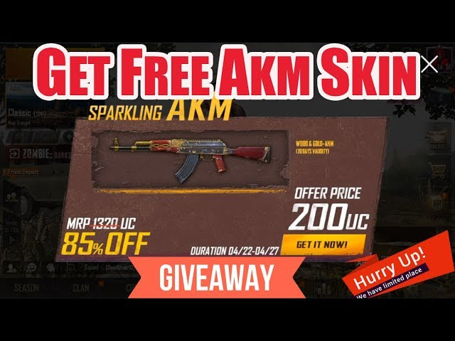 Download thumbnail for Get Free Akm Skin In Pubg || Giveaway