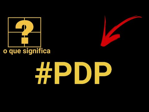 O que significa PDP no Whatsapp
