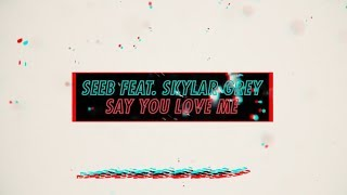 Seeb x Skylar Grey - Say You Love Me #NiceToMeetYou (Official Lyric Video)