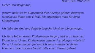 Lektion 243 Brief B1 Aufgabe 2 B1 Prfung Deutschprfung B1