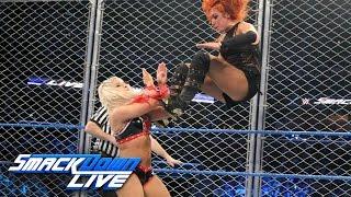 Becky Lynch vs. Alexa Bliss - SmackDown Women's Title Steel Cage Match: SmackDown LIVE, Jan 17, 2016