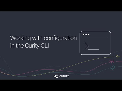 Working with configuration in the Curity CLI