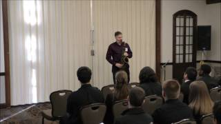 Purdue Jazz Festival/Russ Nolan Improv Clinic: Bebop Scale over the Blues