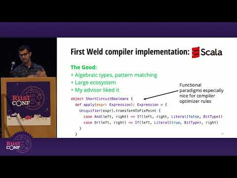 Rust for Weld, a High Performance Parallell JIT Compiler