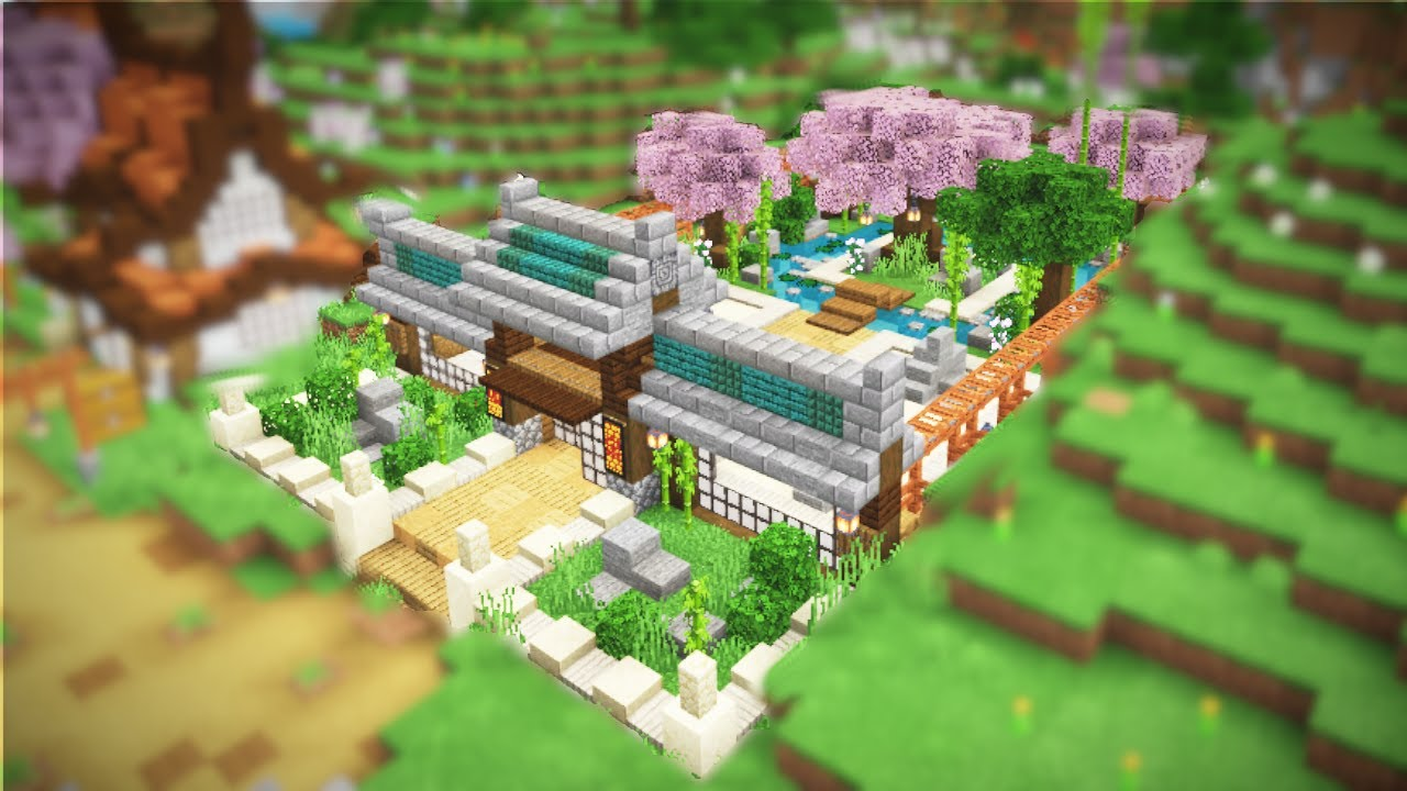 DaphneElaine - Minecraft: Zen Garden & Plum Blossom Piles - Survival Let's Play - Ep. 108