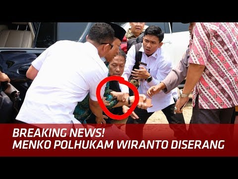 Download Video MENCEKAM! Detik-Detik Menko Polhukam Wiranto Diserang Pria Tak Dikenal