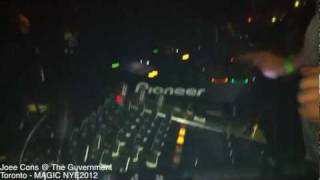 Joee Cons Live @ The Guvernment MAGIC NYE2012