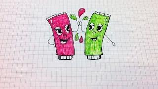 Простые рисунки #145 Тюбики с краской =)