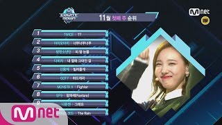 What are the TOP10 Songs in 1st week of November? M COUNTDOWN 161103 EP.499