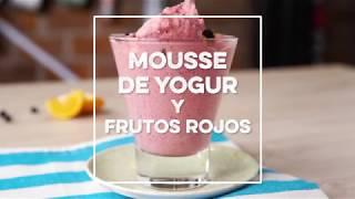 Receta | Mousse de yogur y frutos rojos