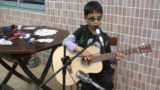 Daughtry - Poker Face (6yo kid acoustic cover)