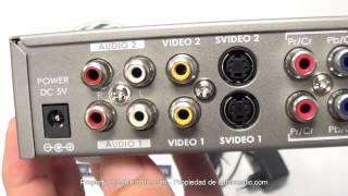 Conversor y selector RCA RGB VGA HDMI y S-Video a HDMI (10 IN) distribuido por CABLEMATIC ®