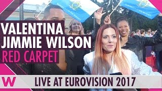 Valentina Monetta & Jimmie Wilson (San Marino) interview @ Eurovision 2017 red carpet