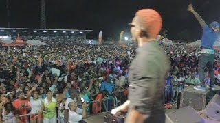 Konshens ft Rickman  TURBO WINE  performance live in Suriname (DIGICEL 4G SHOW) april 2014