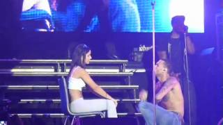 Chris Brown gets down with a lucky/unlucky girl Supafest 2012 Sydney