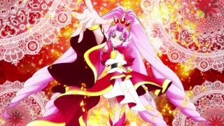 Go! Princess Precure! Cure Scarlet Transformation & Attack!