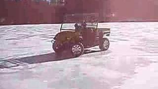 Justin & Colin + Cub Cadet + Frozen Lake = Extreme!!!