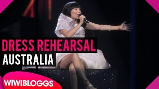 "Australia: Dami Im ""Sound of Silence"" grand final dress rehearsal @ Eurovision 2016"