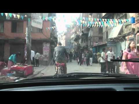 W taksówce, Kathmandu, Nepal