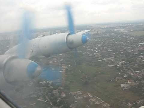 Tandem Aero IL-18 Take-off from Kiev, Ukraine