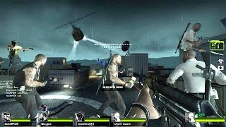 Left 4 Dead 2 - Supreme Drainer Tank Zombie boss fight on Rooftop Finale Multiplayer Gameplay