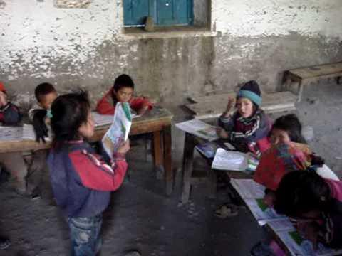Young Lupra Schoolchildren Reciting