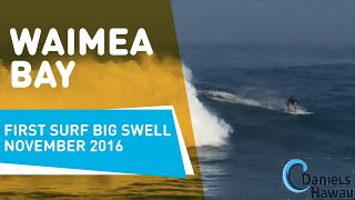 Waimea Bay first surf big swell November 2016 - Hawaii Tour