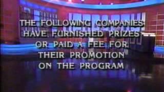 Jeopardy Close / Wheel Intro - March 1993