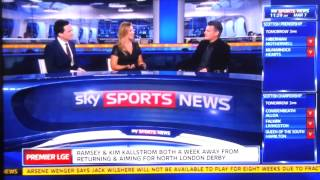 Sky Sports News German reporter swears live on TV 07/03/2014