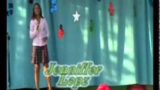 Jenniffer Lopz .*interpretando la cancion Hallelujah by Alexandra Burke