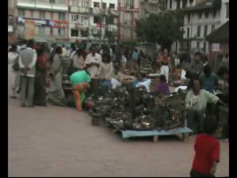 bazar w centrum Katmandu