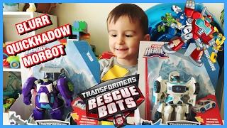 Трансформеры Боты-спасатели Квикшедоу Блёрр Морбот Transformers rescue Bots Quickshadow Blurr Morbit