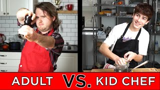Kid Professional Chef Vs. Adult Chef width=