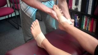 Taping the Feet for Arch Support