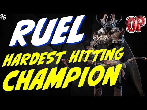 Ruel HARDEST HITTING CHAMPION event All-star RAID SHADOW LEGENDS