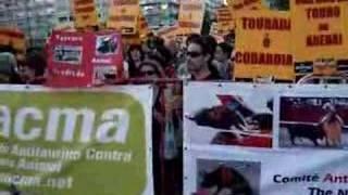 Demo against bullfighting in Lisbon May 17th 2007