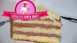 Yaş Pasta Tarifi -Tortenrezept mit Biskuitboden- Leyla ile Yemek Saati