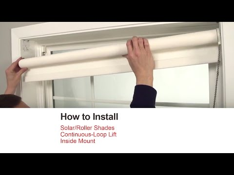 How to Install Solar Roller Shades with Continuous-Loop Lift - Outside Mount