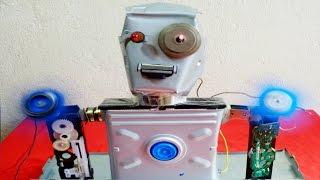 Fazendo um Busto de Robo com Lixo Eletrônico