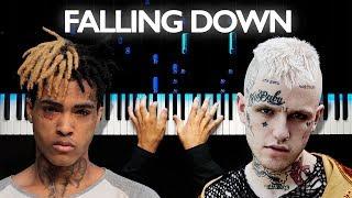 Lil Peep & XXXTENTACION - Falling Down | Piano Tutorial | Sheets