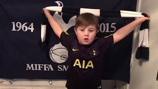Young Spurs fan Ronny with his new song.