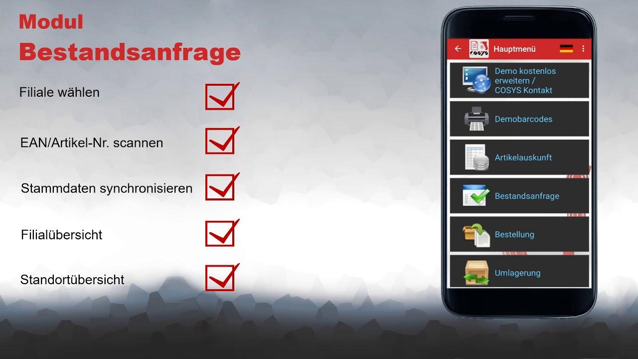 Mobile Bestandsabfrage von Filialbeständen | COSYS POS Non Food Demo