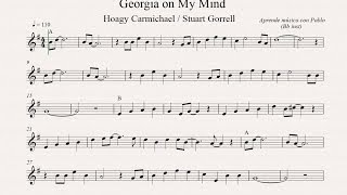 GEORGIA ON MY MIND:  Bb inst (clarinete, trompeta, saxo soprano/tenor) (partitura con playback)