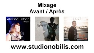 Mixage : Avant / Après - STUDIO NOBILIS